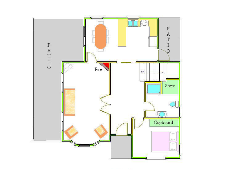 Marlborough 3 bedroom villa ground floor plan Ground floor 3 bedroom plans